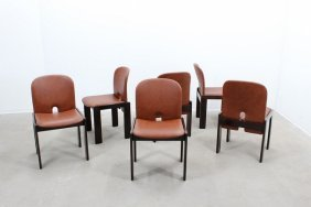 Afra And Tobia Scarpa, Cassina, Six Chairs