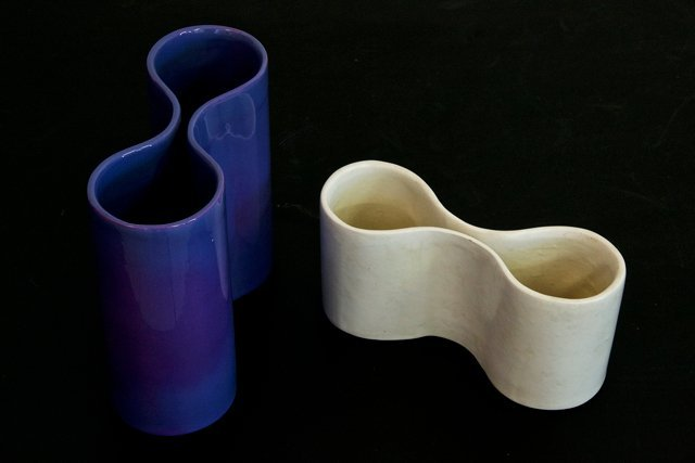Italian Manufacture, two pottery