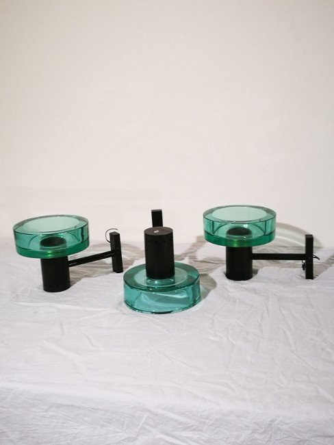 Flavio Poli, Seguso, three wall lamps - 3