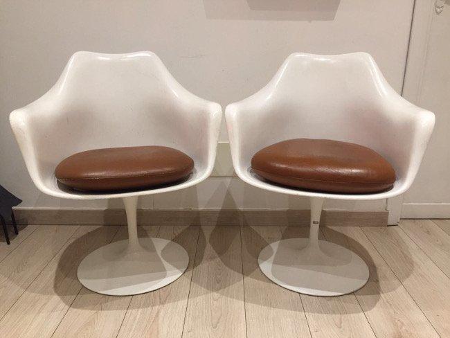 Saarinen, Knoll, Tulip chairs