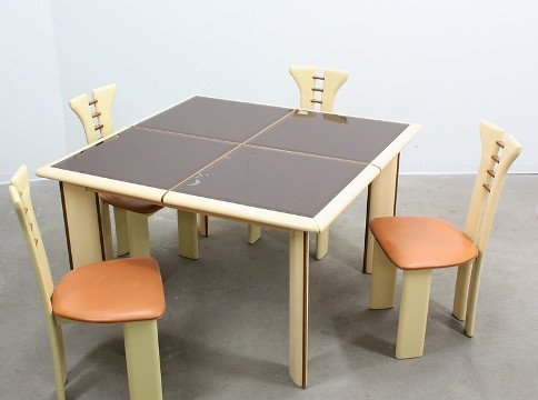 Pier Cardin, chairs and table