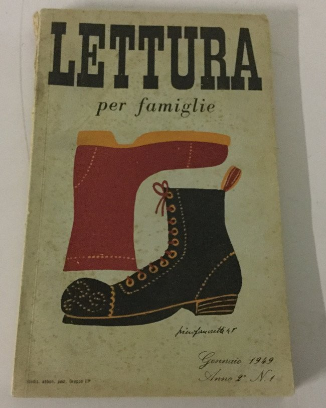 Piero Fornasetti, original draw on the book Lettura per