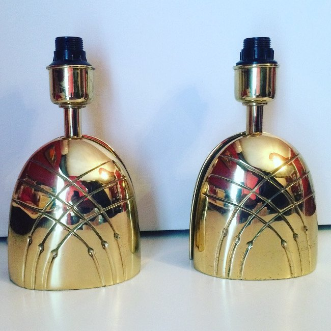 Italian Manufacture, two table lamps 1970 ca.