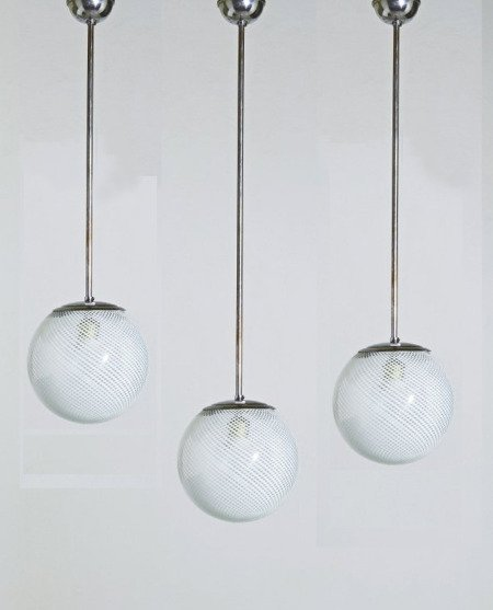 Venini, three hanging lamps 1940