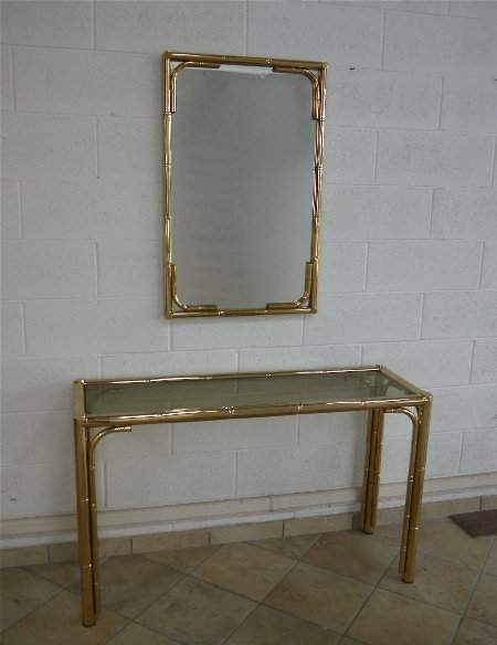 Italian Manufacture, console and mirror