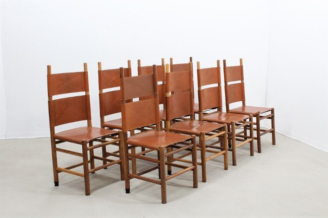 Carlo Scarpa, Bernini, 8 chairs