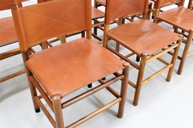Carlo Scarpa, Bernini, 8 chairs - 2