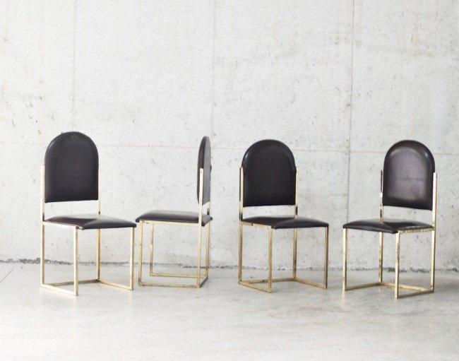 Romeo Rega, four chairs 1970