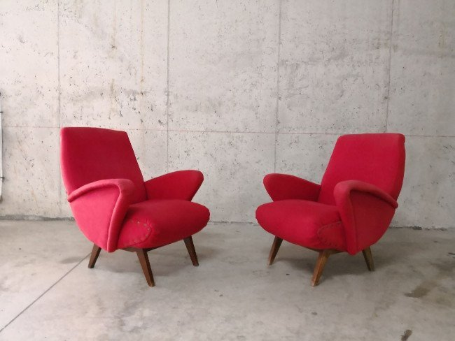 Italian Manufacture, two armchairs 1950