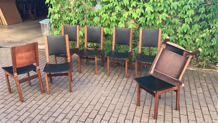 Italian Manufacture, eight chairs