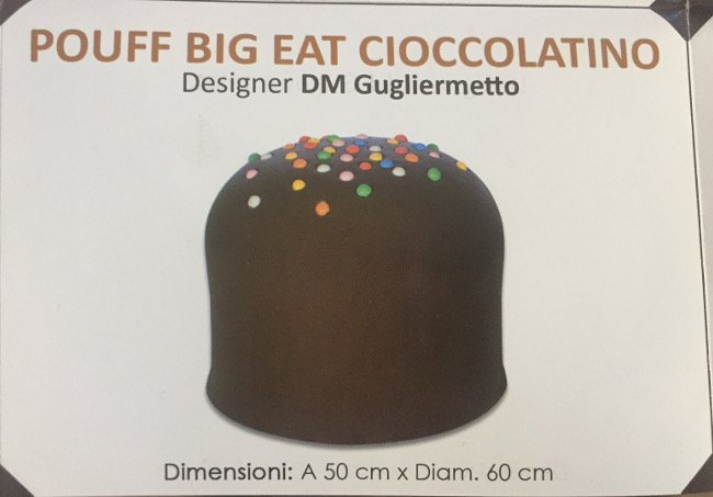 DM Gugliermetto, sculpture pouff Big Eat Cioccolatino - 8
