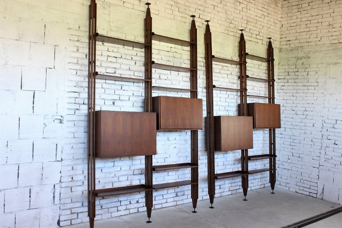 Franco Albini, Poggi, two bookcases LB7