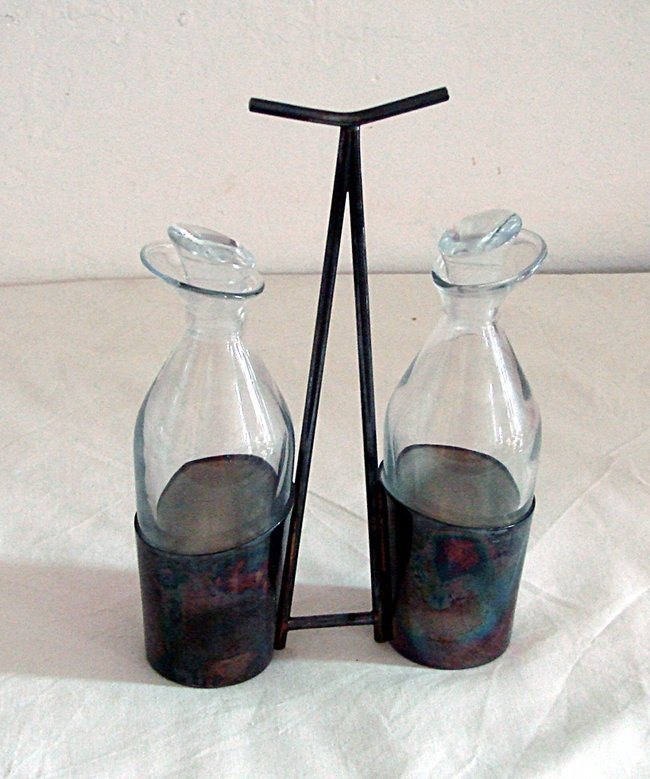 Oil and vinagar bottles Lino Sabattini, Christofle,