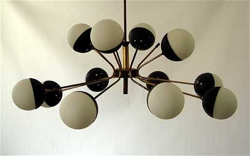 Stilnovo chandelier aloadofball Gallery