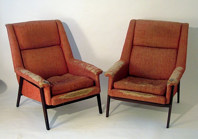 Italian Manufacture, Two armchairs, 1950 ca.
