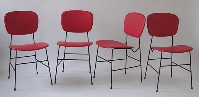 Italian Manufacture, Four chairs, 1950 ca.