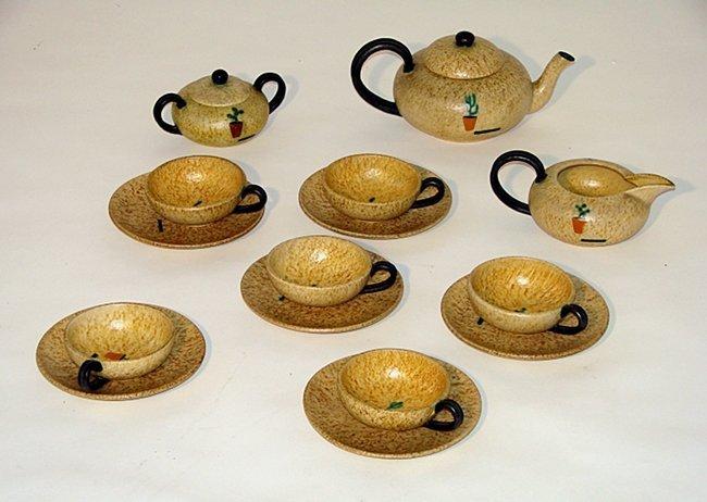 Majolicata ceramic set, Ivos Pacetti, La Fiamma, 1926