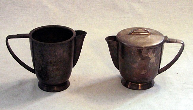 Alpacca teapot and milk jug, Gio Ponti,  Fratelli