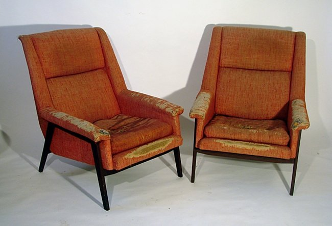 Two armchairs Manifattura Italiana, 1950 ca.