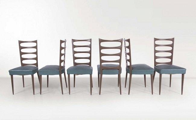 Paolo Buffa, six chairs