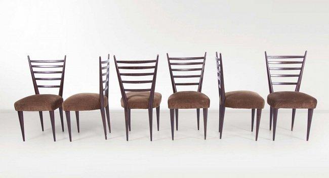 Italian Manufacture, six chairs