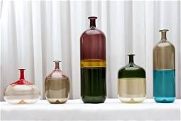 T. Wirkkala, Collection of five Bolle, Venini