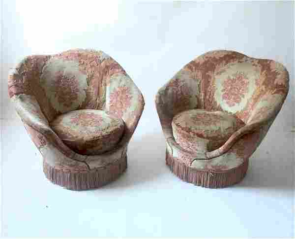 Italian manufacture, Pair of armchairs