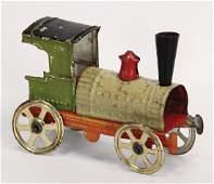 PENNY TOY Meier, steam engine, c. 1890, sheet metal, 8