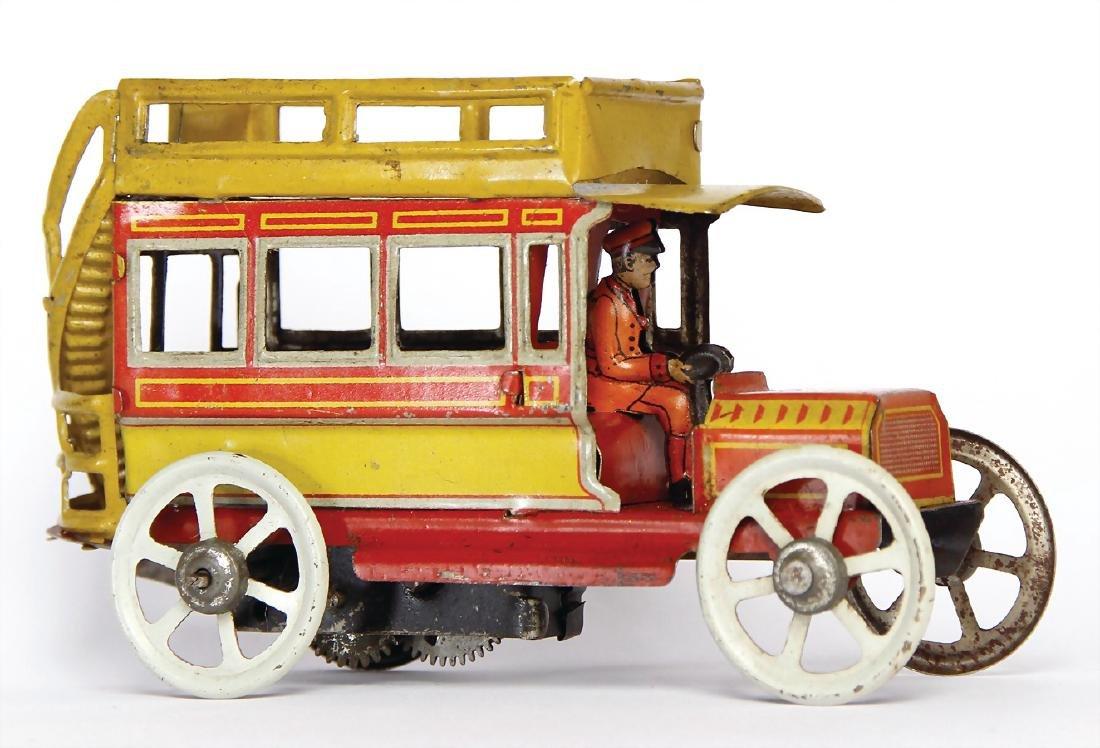 PENNY TOY Distler, double-decker bus, c. 1910, 11.5 cm,