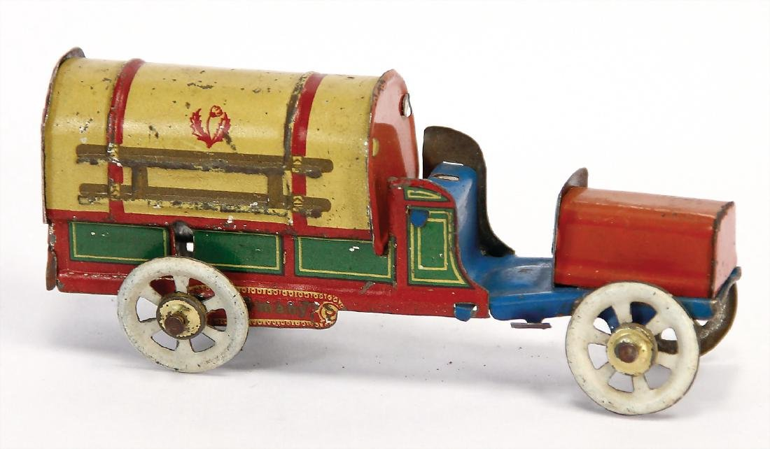 PENNY TOY trucks, France, lithographed sheet metal, 9.5