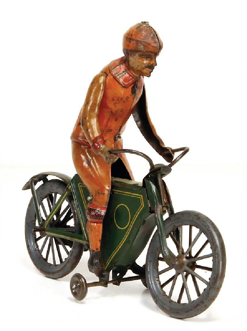motorcyclist, lithographed sheet metal, 17.5 cm, c.