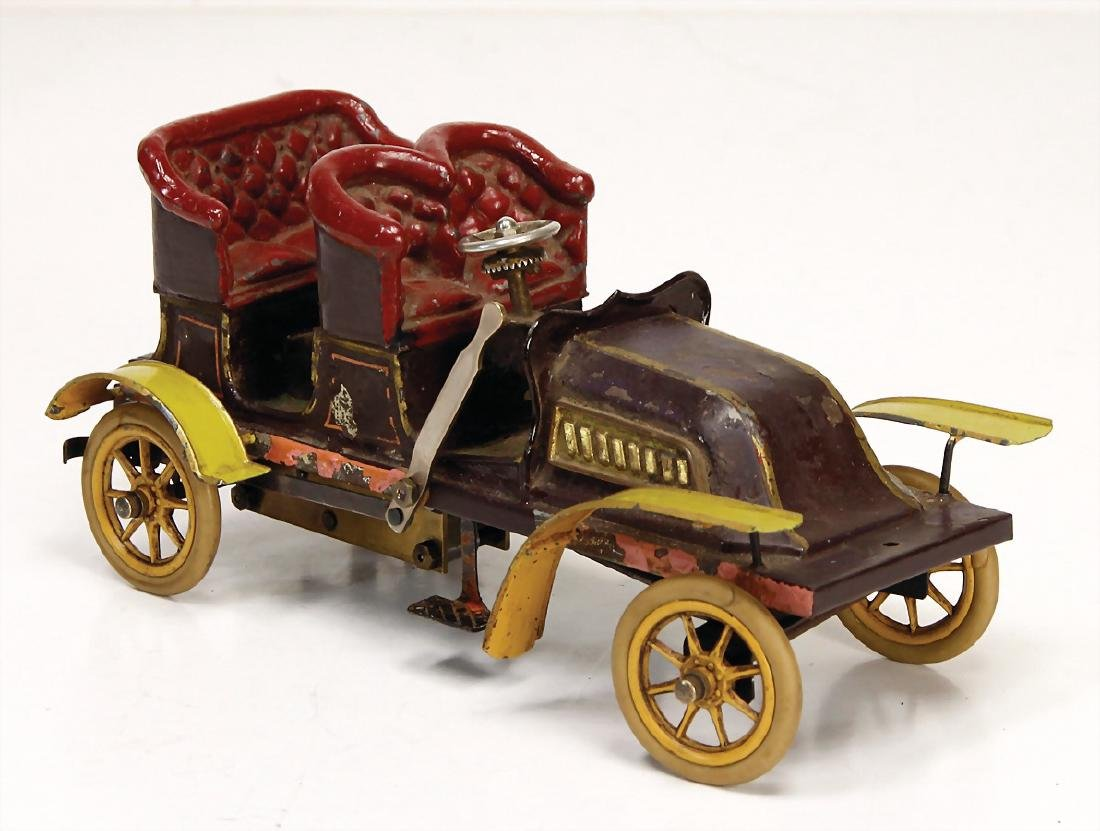 BING automobile, c. 1902, 4-seater, 22 cm, used,