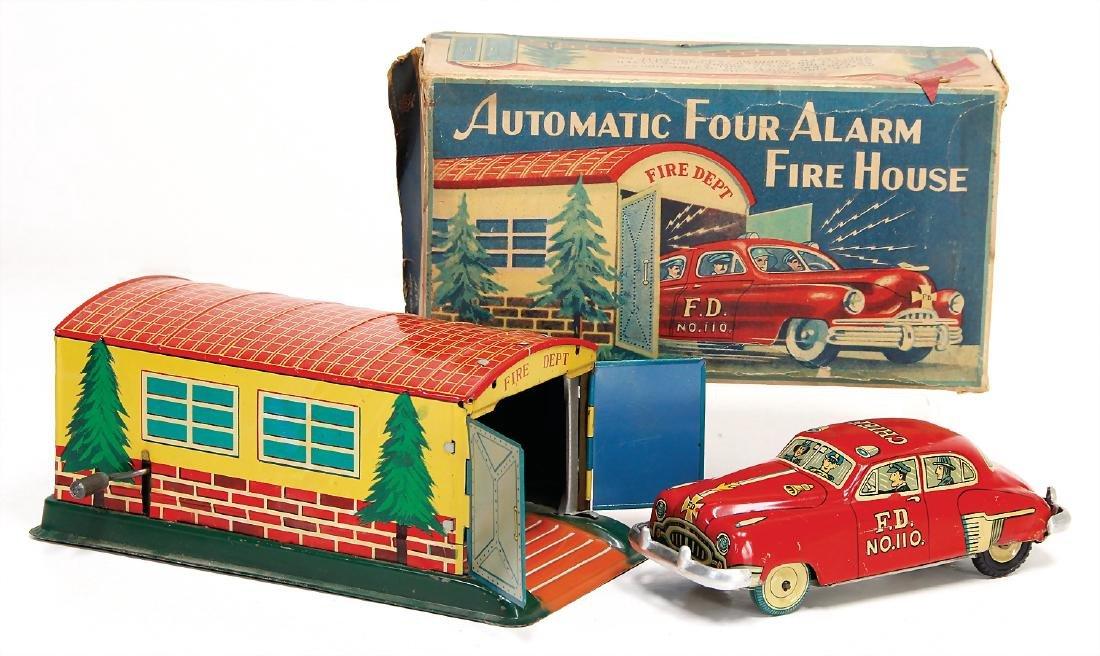 ALPS Japan, Fire Depot, garage with fire engine, sheet