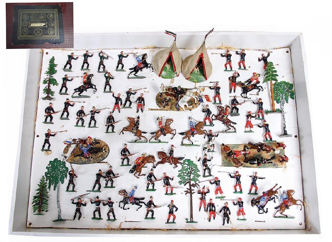 HEYDE fine composition figures, fencing scenes, plastic