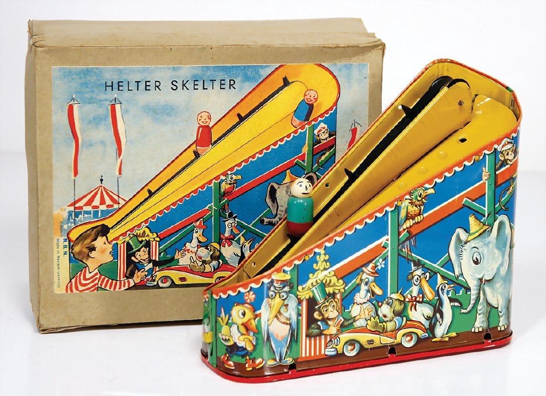 NBN Helter Skelter train, sheet metal lithographed,