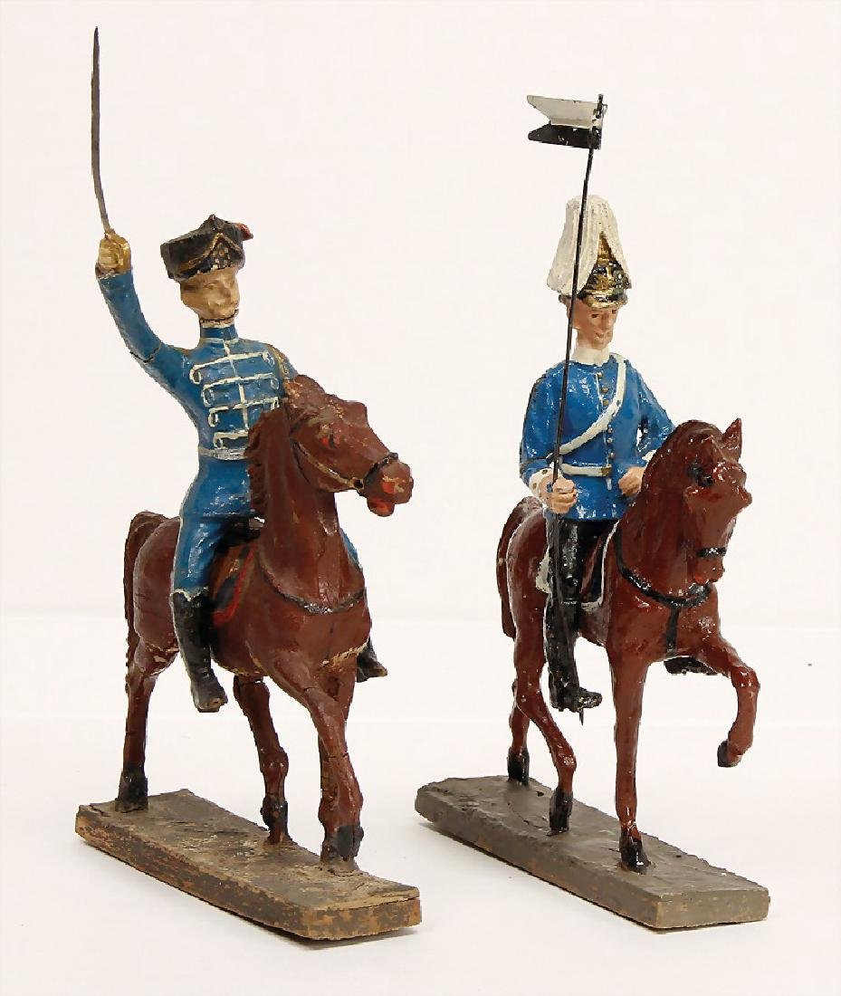 2 pieces, mass, 10 cm series, First World War, rider,