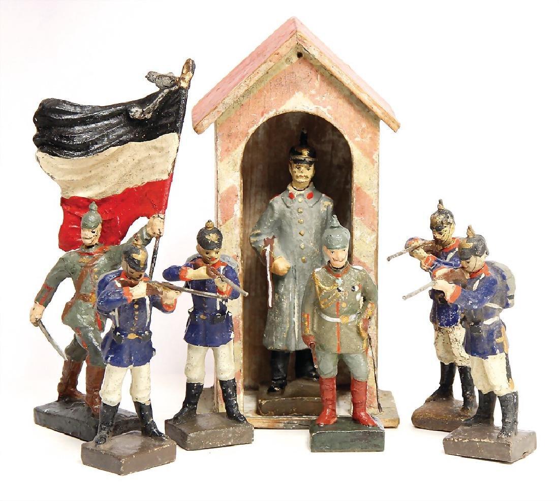 LINEOL mass, First World War, 9.5 cm, 4 x German,