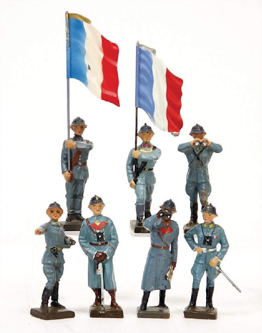 LINEOL mass, 7.5 cm, Frenchmen, 2 standard bearers, 1x
