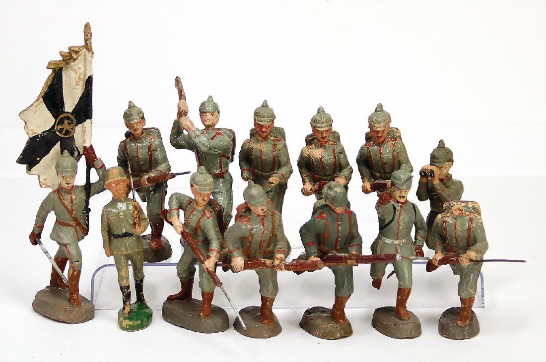 ELASTOLIN mass, First World War, 10 cm, 7x fighting, 1