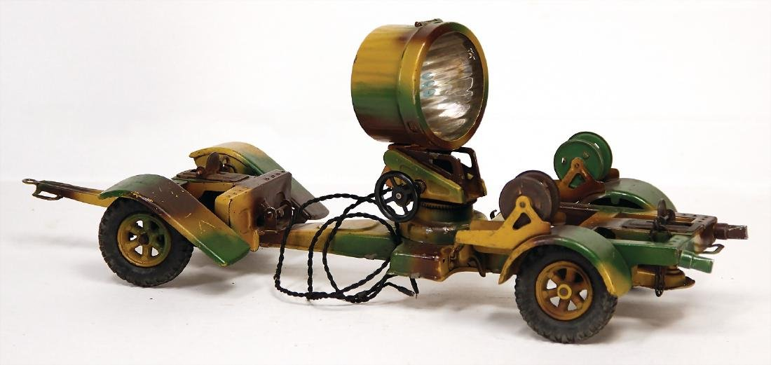LINEOL headlight, sheet metal, mimicry, 38 cm, used