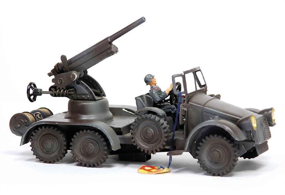 HAUSSER truck, 3-axled, with Flak, field gray, 25 cm,