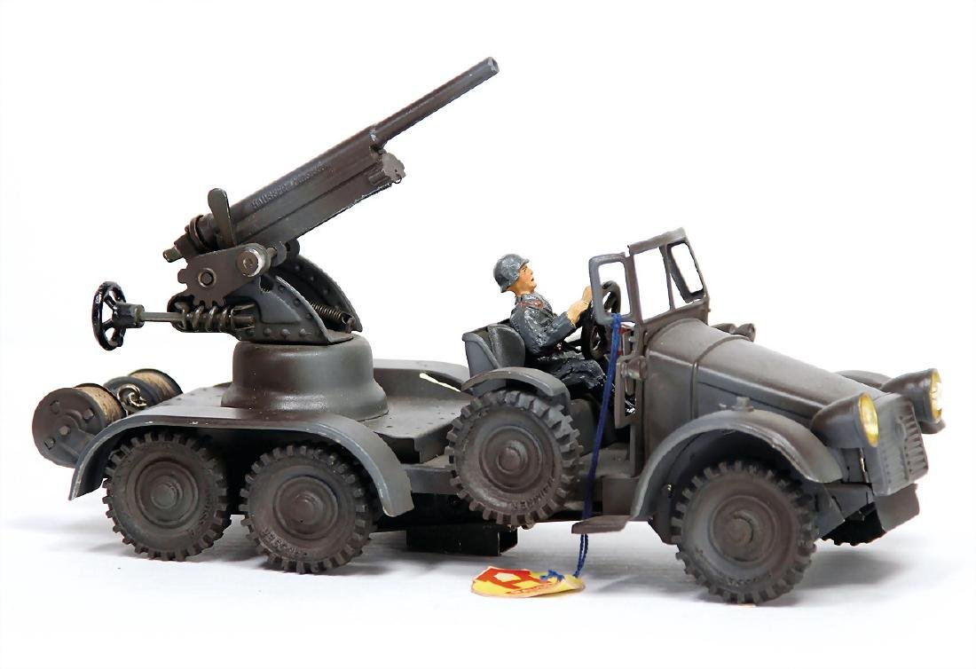 HAUSSER truck, 3-axled, with Flak, field gray, 25 cm,