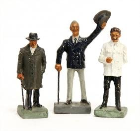 DURSO 7.5 cm, mass, 3 pieces, ,Churchill, Roosevelt and