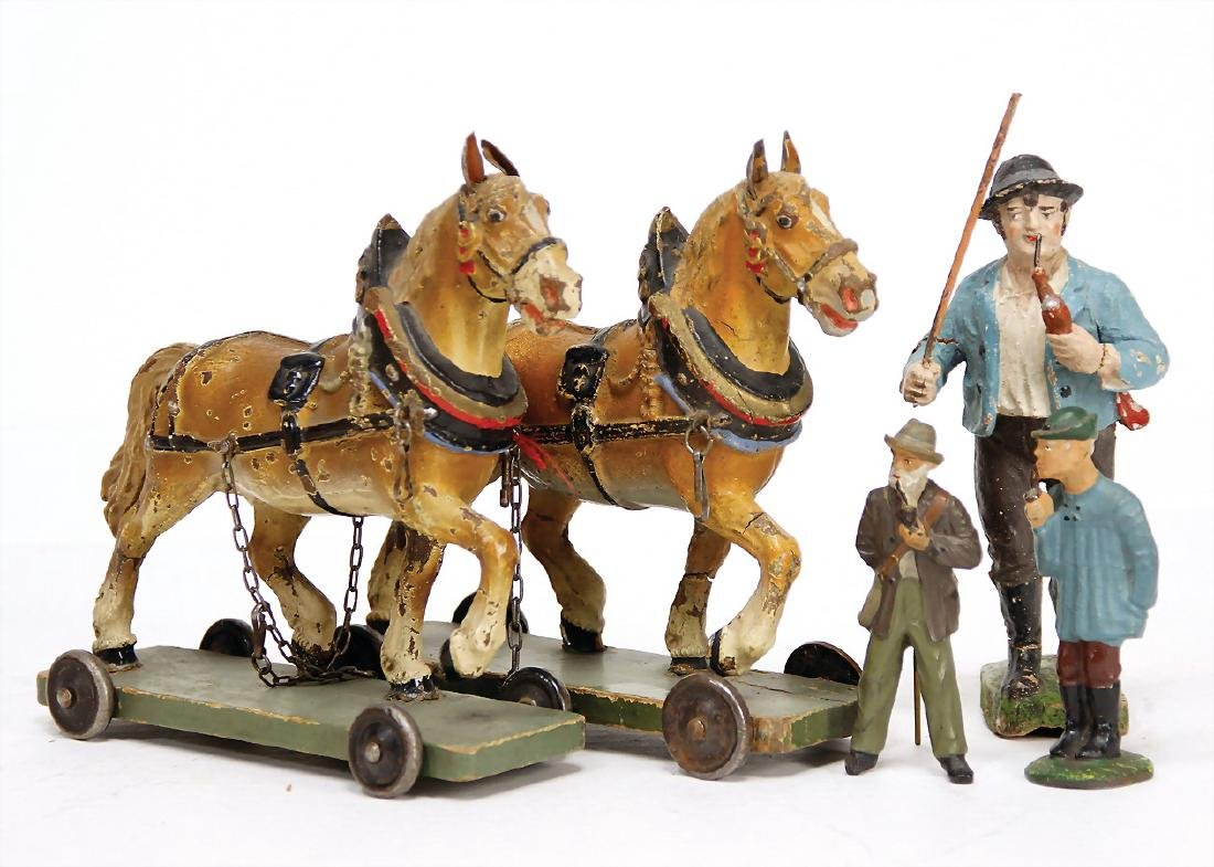ELASTOLIN farmer with whistle and  stick, 13.5 cm,