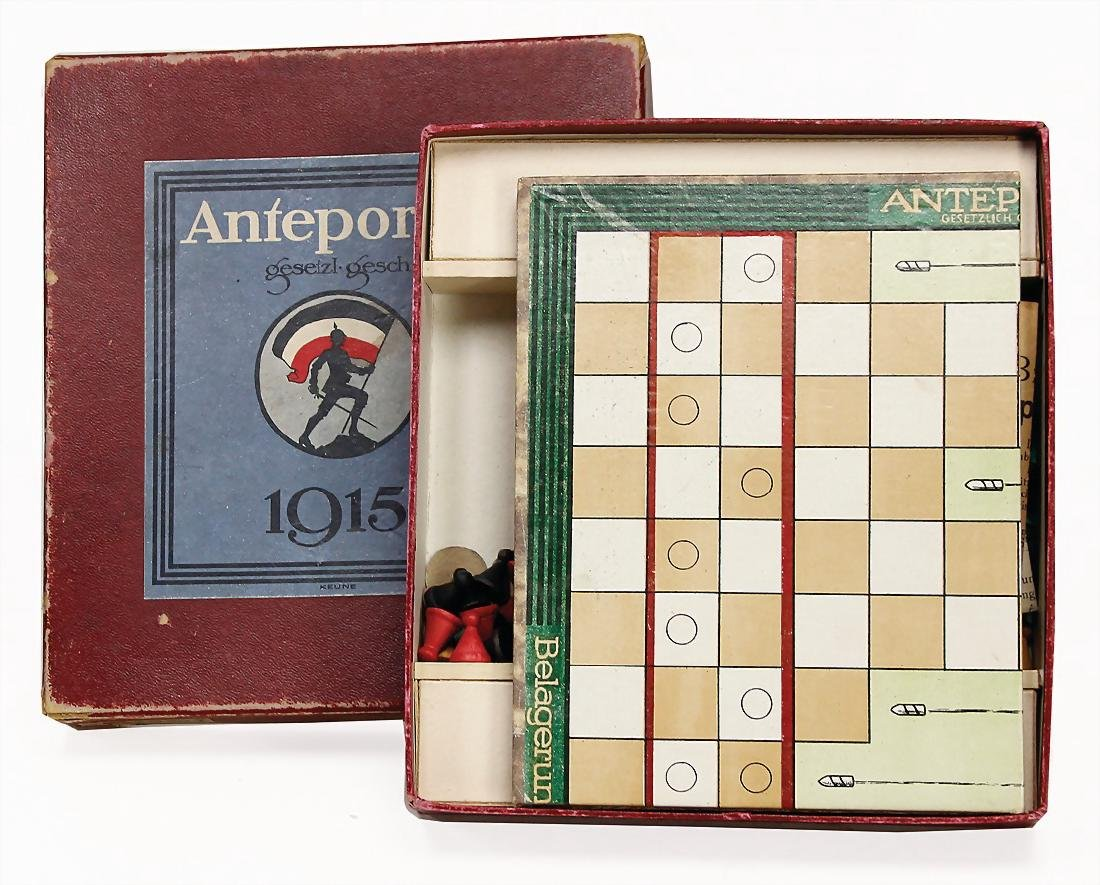 """Anteportas"", 1915, war game, board game,"