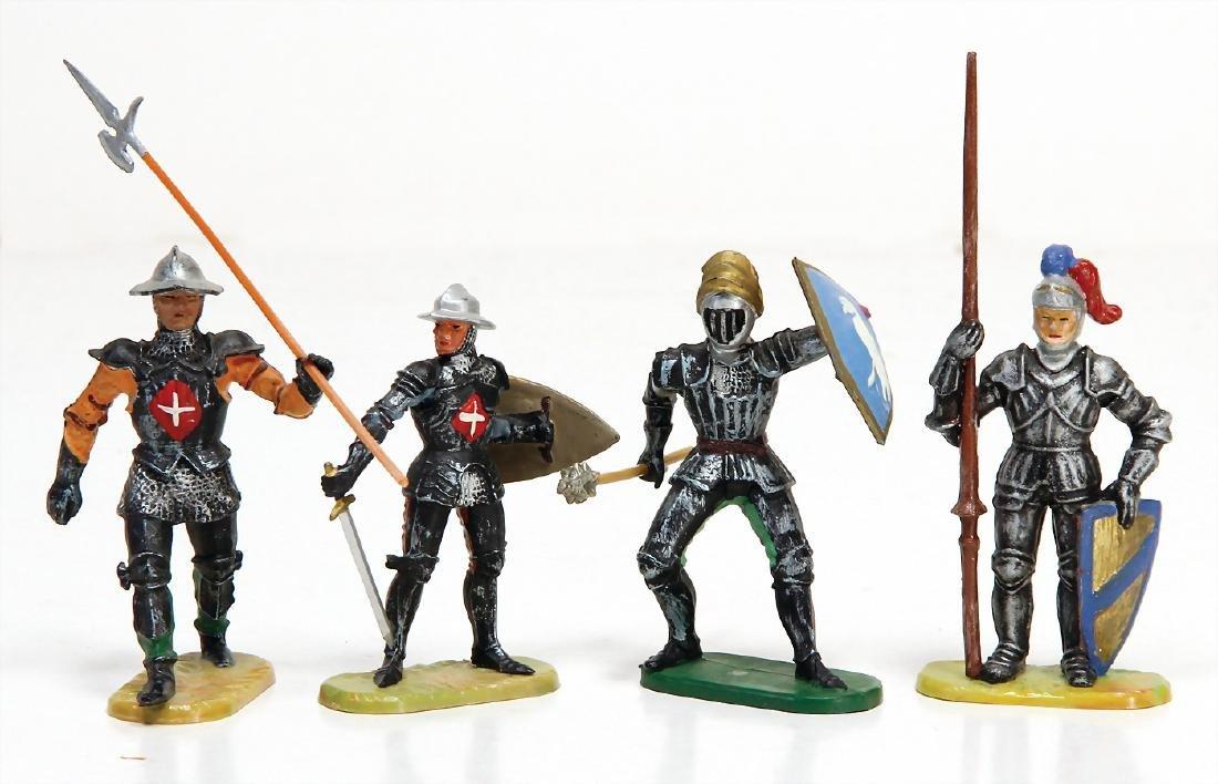 ELASTOLIN plastic, 4 pieces knights, 7 cm, early