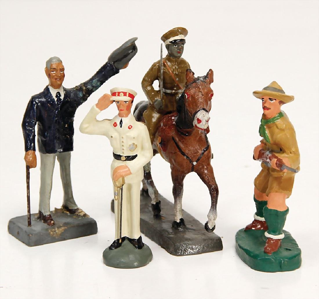 ELASTOLIN rider, suitable to 7.5 cm, with 3 figures,