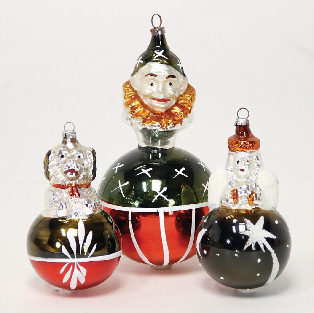 3 pieces Christmas tree decoration, mirror glass, ball