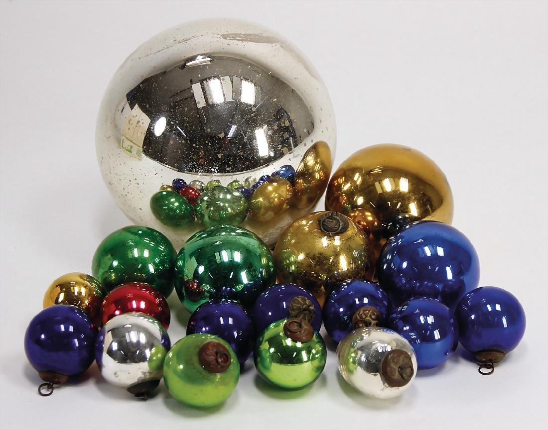 18 pieces Christmas tree decoration, baubles,