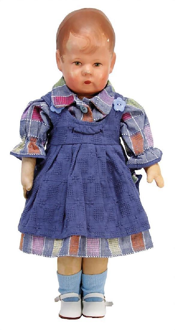 KÄTHE KRUSE doll No. 1, fabric head, 3 seams at